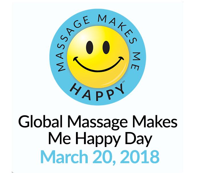 Massage Makes me Happy Day logo
